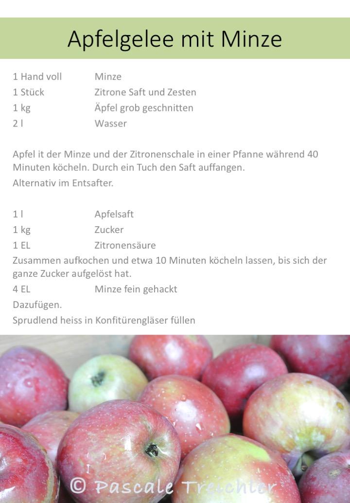 Apfelgelee mit Minze