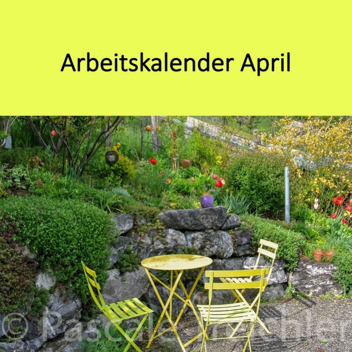 Garten Arbeitskalender April
