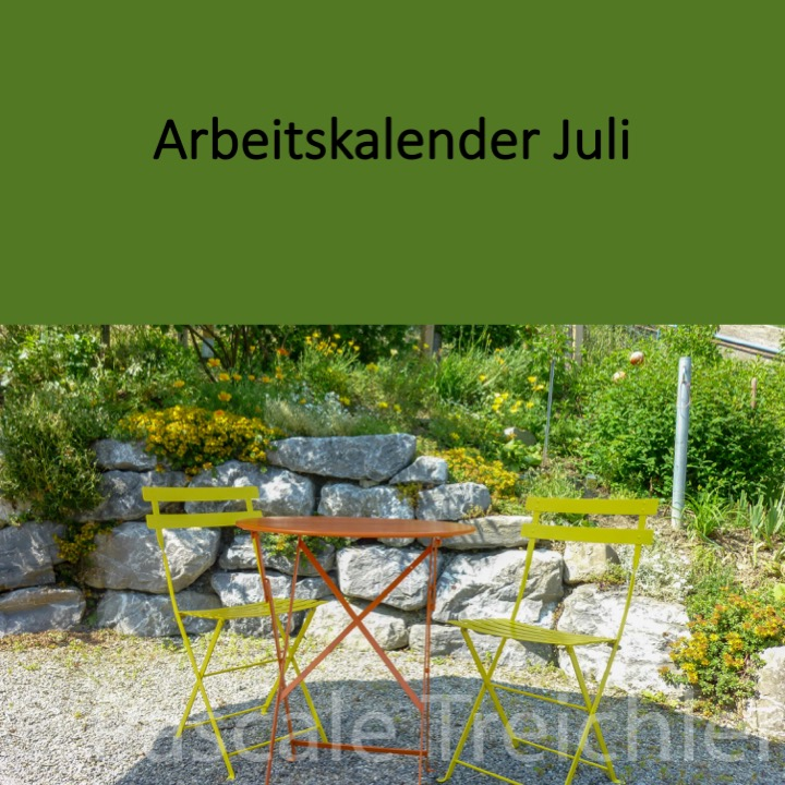 Garten Arbeitskalender Juli