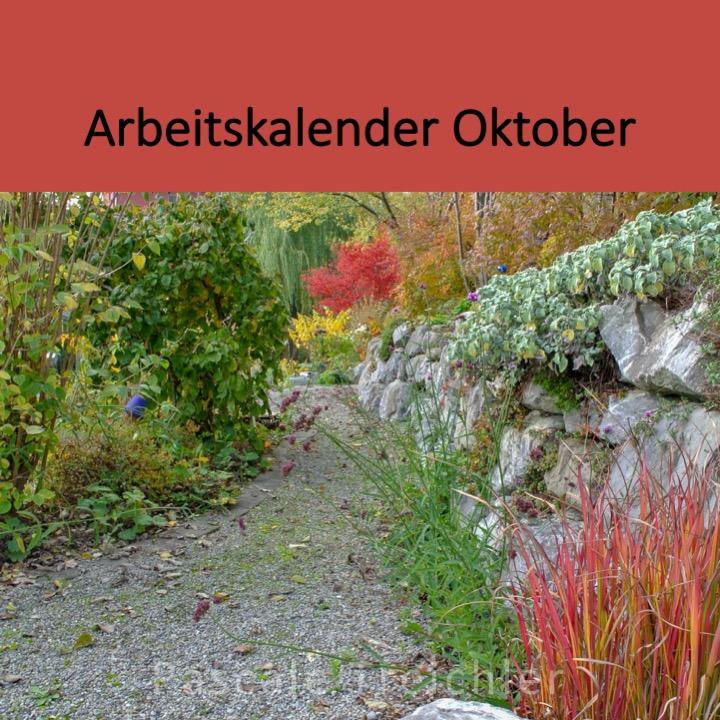 Garten Arbeitskalender Oktober