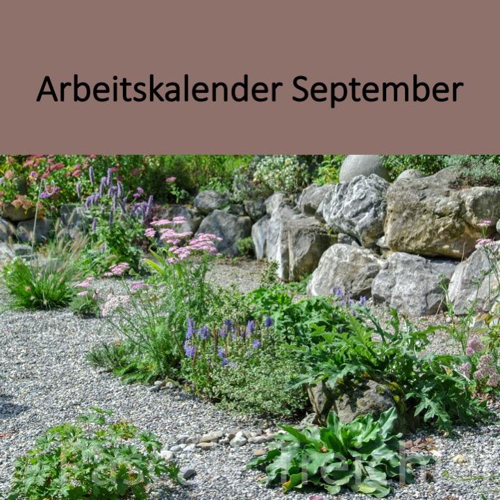 Garten Arbeitskalender September