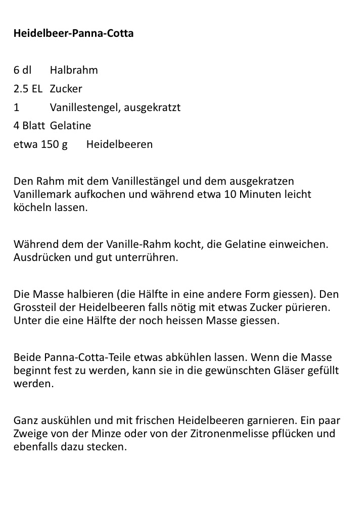 Heidelbeer-Panna-Cotta