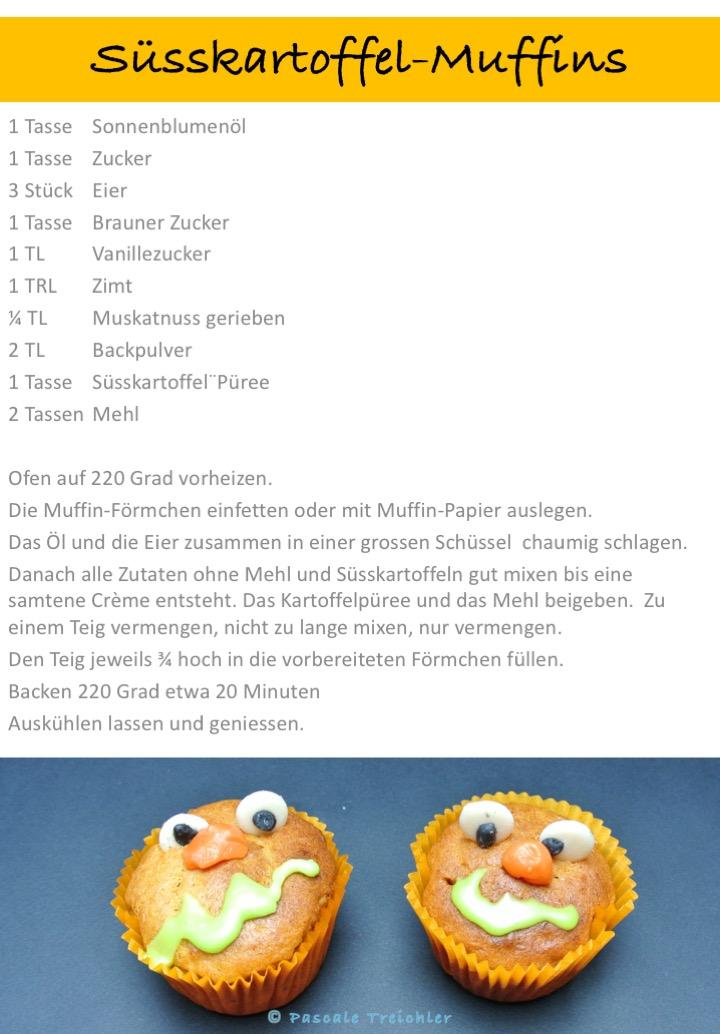 Muffins - Süsskartoffel