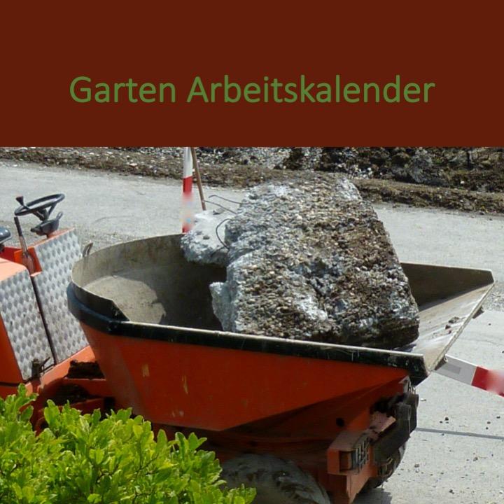 Garten Arbeitskalender Jahr