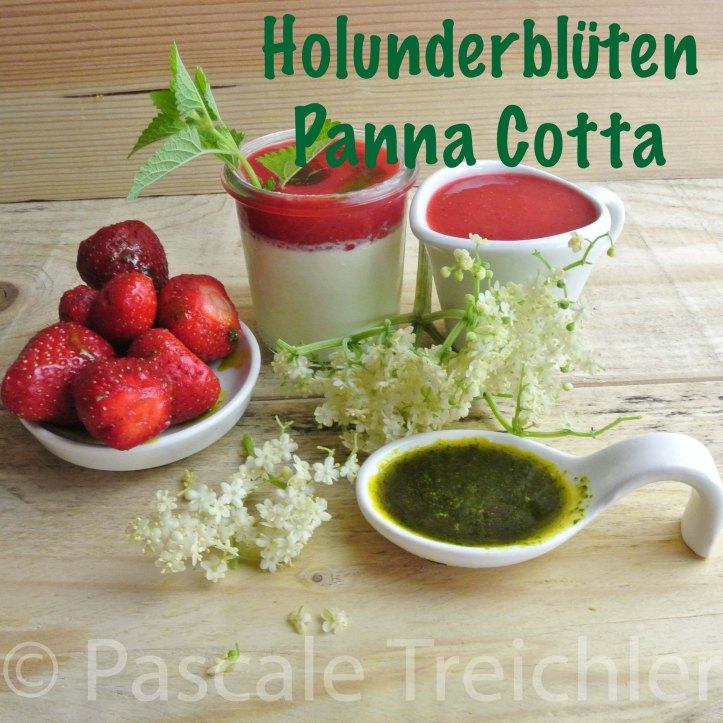 Holunderblüten Panna Cotta