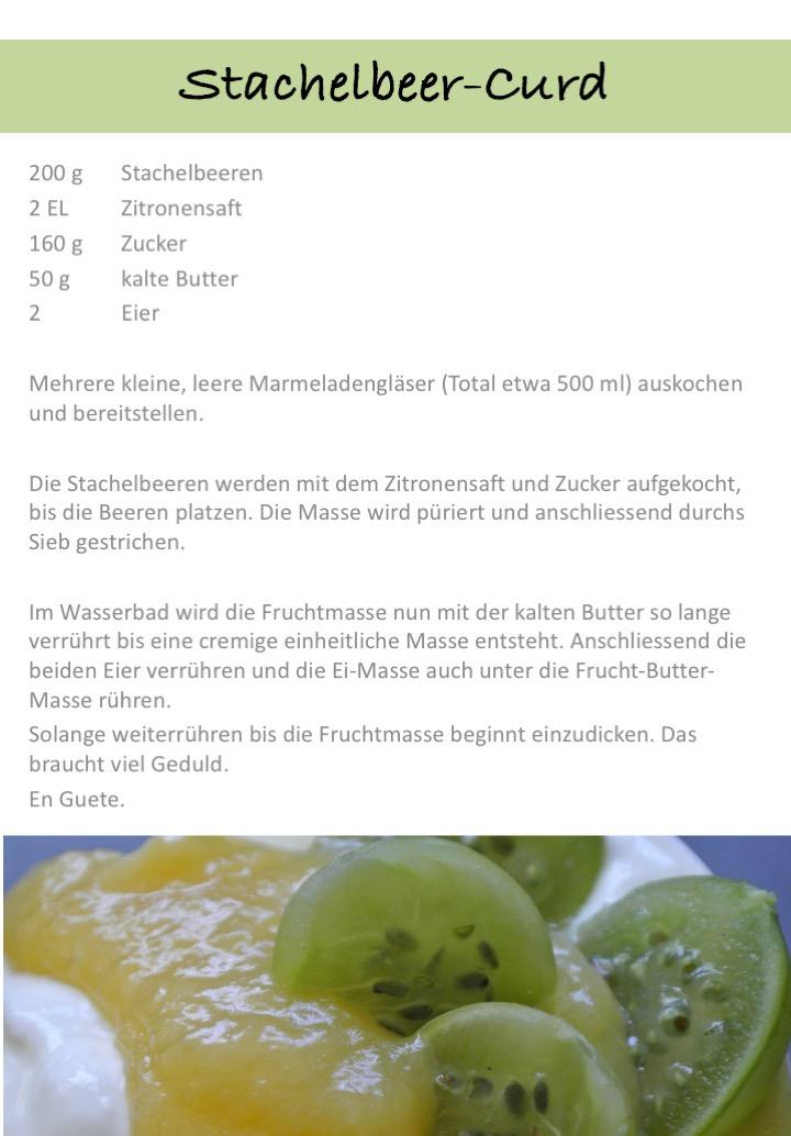 Stachelbeer-Curd
