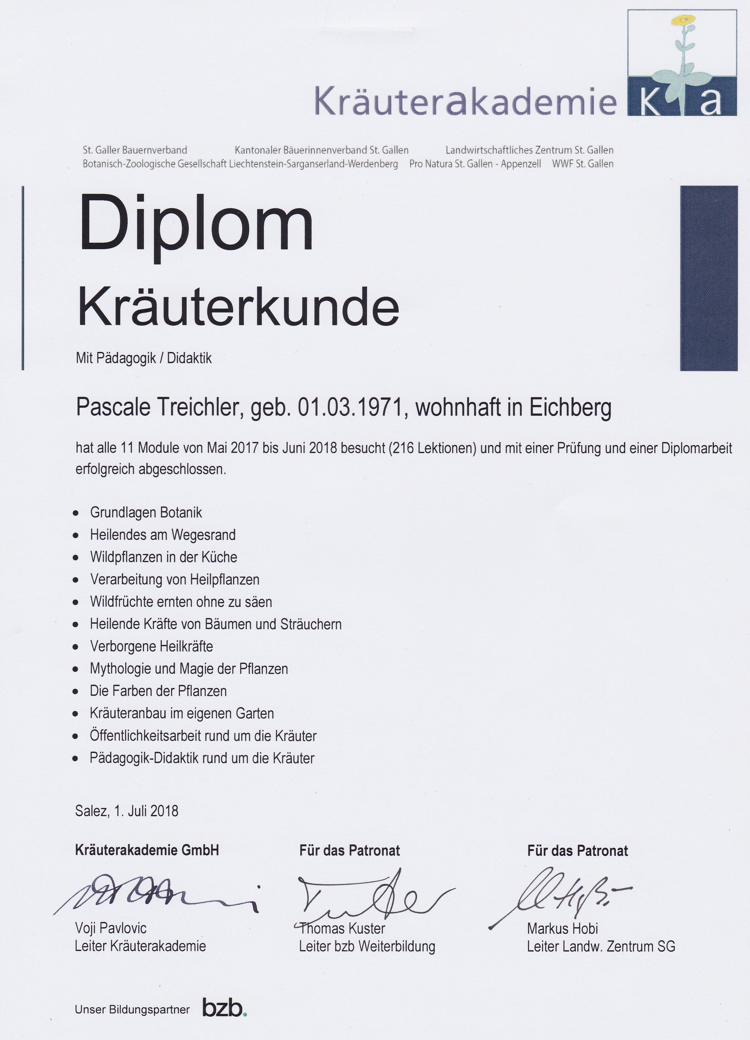 Diplom Kräuterakademie