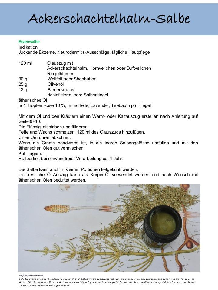 Ackerschachtelhalm-Salbe