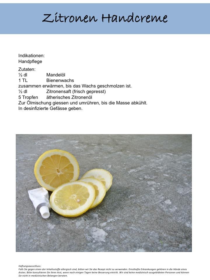 Handcreme Zitrone