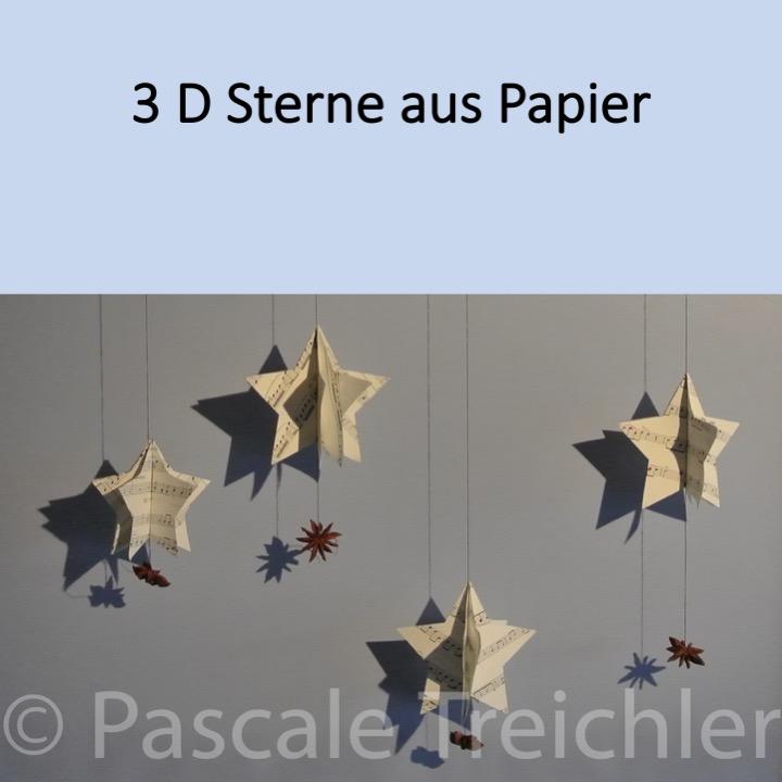 Sterne aus Papier 3D