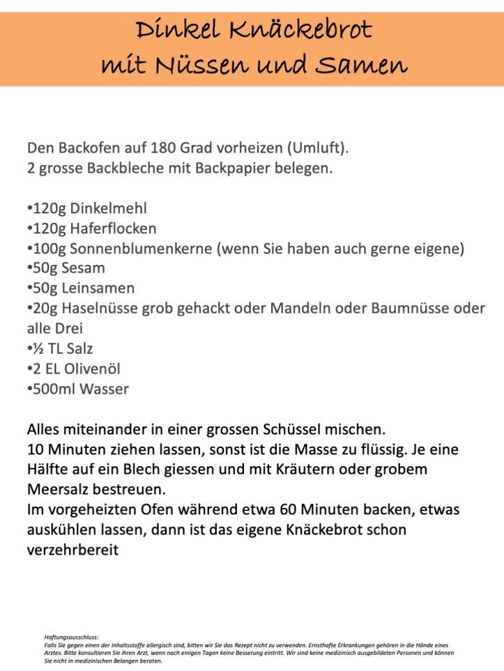 Rezept: Dinkel Knäckebrot mit Nüssen und Samen