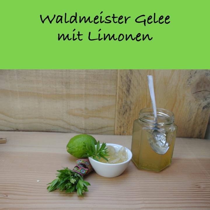 Waldmeistergelee mit Limonen