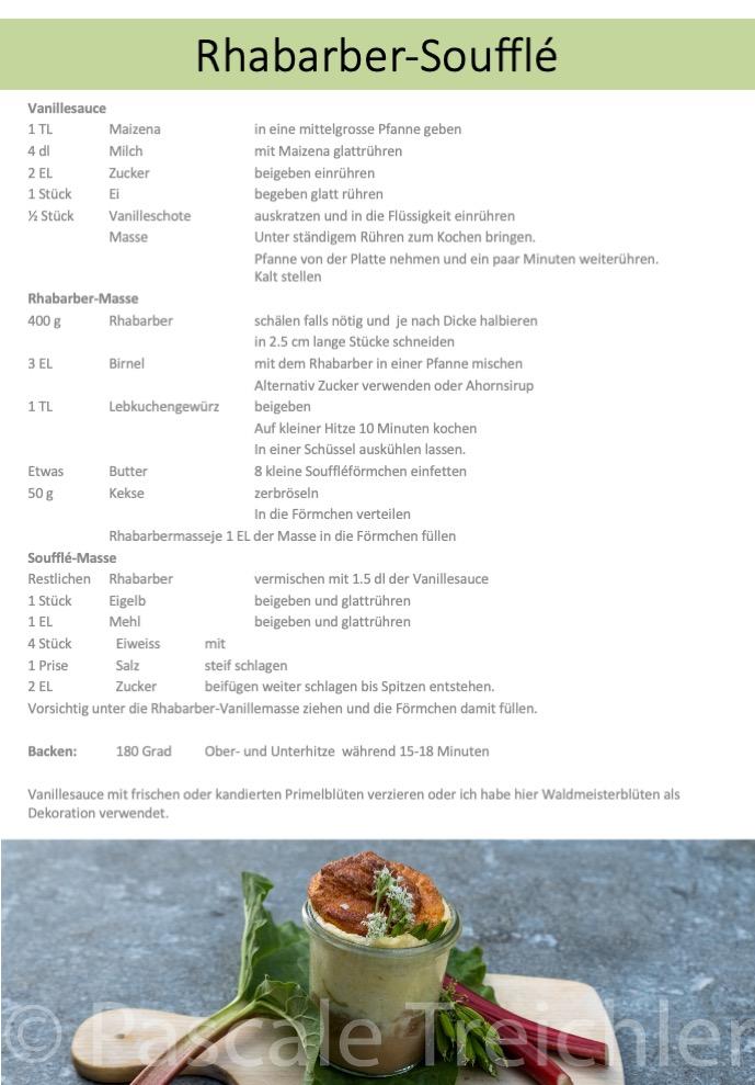 Hast Du bereits viel erntereifen Rhabarber in Deinem Garten. Hier findest Du eine Idee für ein feines Dessert oder süsses Abendessen.